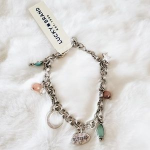 Lucky Brand NWT Charm Blessed Bracelet